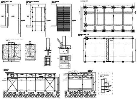 capannone dwg capannoni magazzini depositi dwg