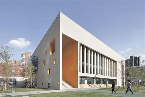 institute of design and construction school with an open space beijing institute of