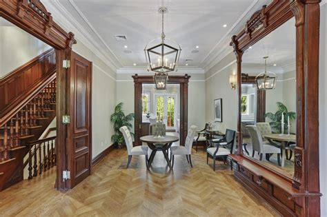 century bed stuy townhouse  doctors row  swimming  wood details sqft