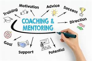 Coaching And Mentoring Concept  Chart With Keywords And