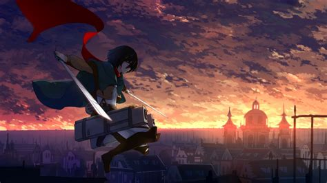 mikasa ackerman scarf shingeki  kyojin wallpapers hd