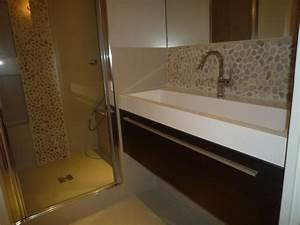des salles de bain concues et realisees bconceptbconcept With salle de bain galet et bois