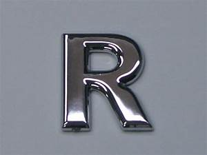 chrome letters and numbers rounded no minimum order With chrome letters for cars