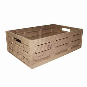 Caisse En Bois : grande caisse imitation bois plastique ~ Nature-et-papiers.com Idées de Décoration