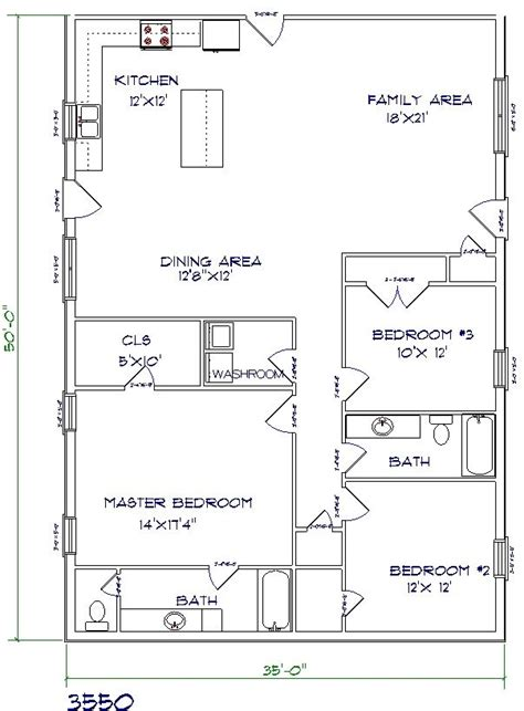 Metal Pole Barn House Floor Plans