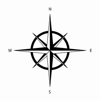Rose Wind Icon Longitude Compass Vector Illustration