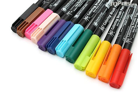 koi coloring brush pen 12 color set jetpens