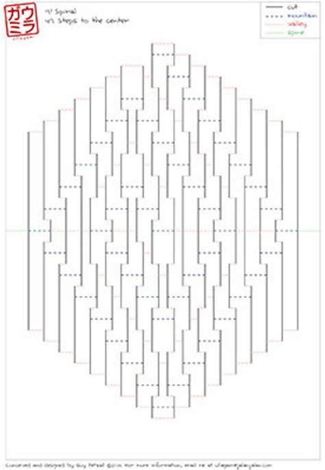 kirigami templates diy template 9x9 spiral kirigami paper sculpture by ullagami