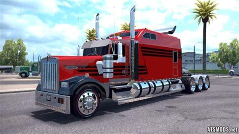 European Curtain by Kenworth W900 Long Remix Truck Mod Ats Mods