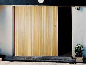 meilleur porte de garage et panneau coulissant bois With porte de garage avec panneau coulissant intérieur