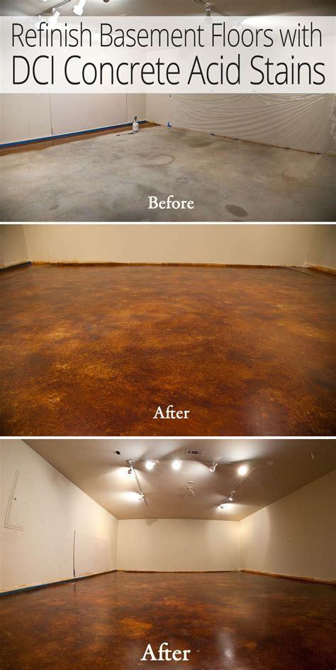 Acid Stain Basement Remodel   DirectColors.com   Concrete