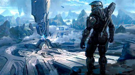 Video Games Mountains Clouds Landscapes Futuristic