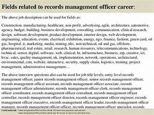 top 10 records management officer interview questions and With documents management jobs