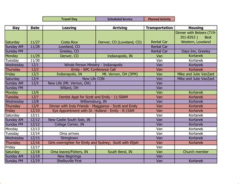 excel itinerary 5 travel itinerary template excel teknoswitch
