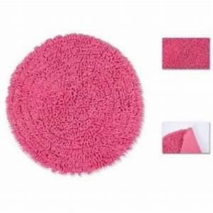 Tapis De Bain Rond : tapis de salle de bain chenille en coton rond 60 cm rose cuisine maison ~ Teatrodelosmanantiales.com Idées de Décoration