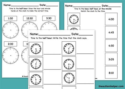 time mega pack for special education worksheets math