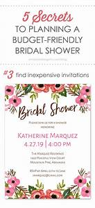 5 secrets to planning a budget friendly bridal shower With planning a wedding shower on a budget