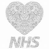 Nhs Colouring Marotta Heart Lockdown Launches Social sketch template