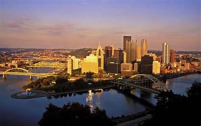 Pittsburgh Skyline Desktop Travel Wallpapersafari Geographic Landmarks