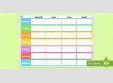 Weekly Meal Planner Template weekly, meal, planner, template