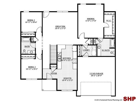house plans one small ranch house plans ranch house plans no garage one