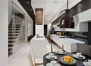 Modern House Interior in White and Black Theme – Trinity