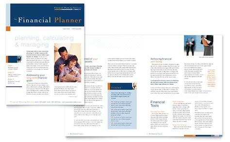 financial planning consulting newsletter template word