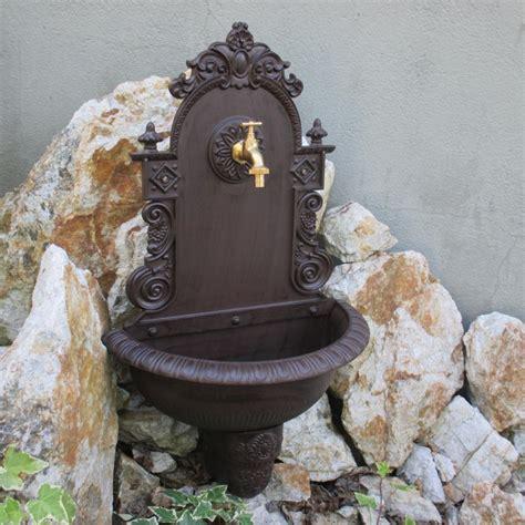 Wandbrunnen Garten Waschbecken Braun Wandwaschbecken Antik
