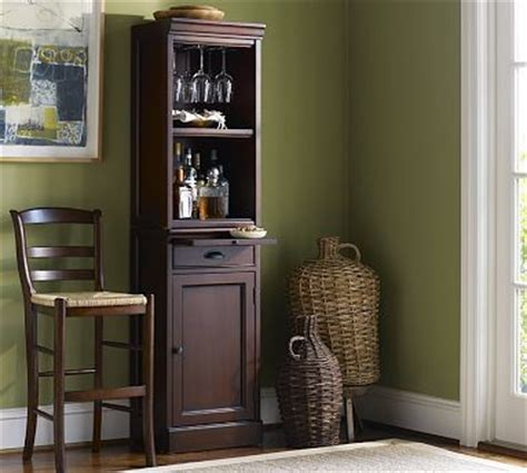 Modular Bar With Cabinet Tower by Modular Cabinet Open Hutch Bar Tower Black