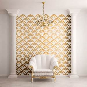 Scallop Shell Pattern Wall Stencils - Contemporary - Wall ...