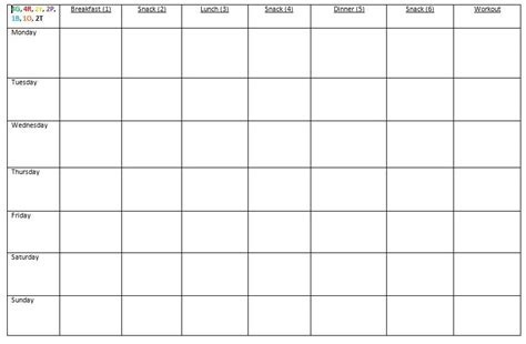 meal prep template how i prep for the week passion4peanutbutter