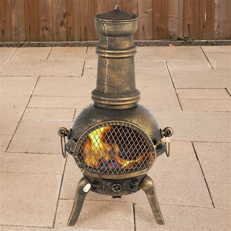 Make Your Own Chiminea by Terra Cast Iron Chiminea Bronze 90cm On Sale Fast