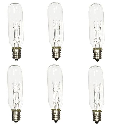 15 Watt Chandelier Light Bulbs by Pack Of 6 15t6 15 Watt Tubular Light Bulb Candelabra E12