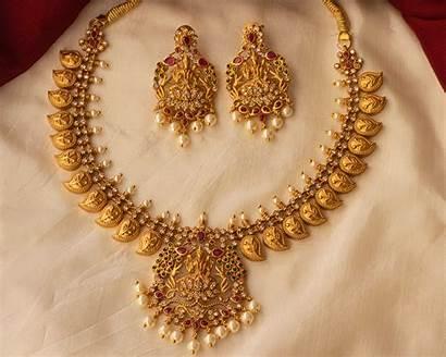Antique Jewellery Mango Designs Necklace Imitation India