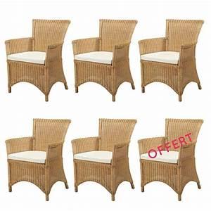 Fauteuil Rotin Design : lot 6 fauteuils en rotin rosas jaune meubles en rotin lot fauteuils en rotin rotin design ~ Nature-et-papiers.com Idées de Décoration