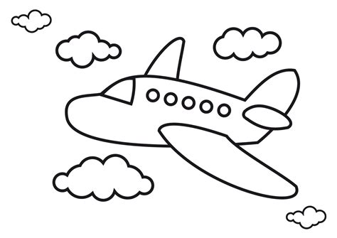airplane coloring pages airplanes pictures  kids