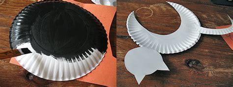paper plate black cat     fun halloween kids craft