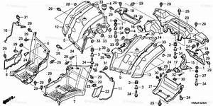 Honda Atv 2006 Oem Parts Diagram For Rear Fender