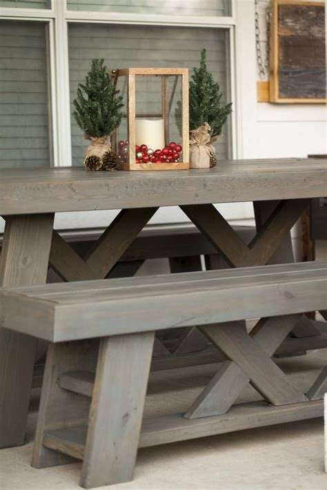 restoration hardware console table diy diy outdoor patio table benches shanty 2 chic
