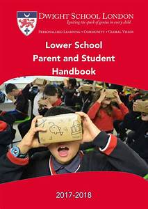 Pillars Of Excellence Lower School Parent And Student Handbook 2017 18 By Dwight