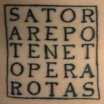 Crone Cronicles: The Sator-Rotas Square