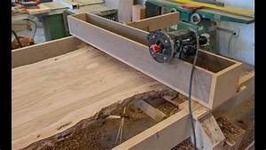 Woodworking, How To Flatten A Live Edge Slab - YouTube