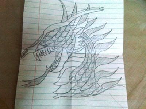 drawing  dragon