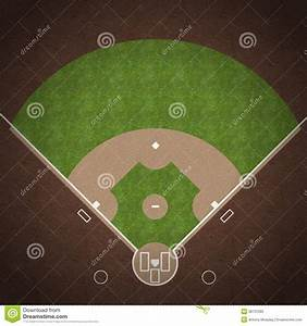 Baseball Field Stock Illustration  Image Of Dirt  Overhead