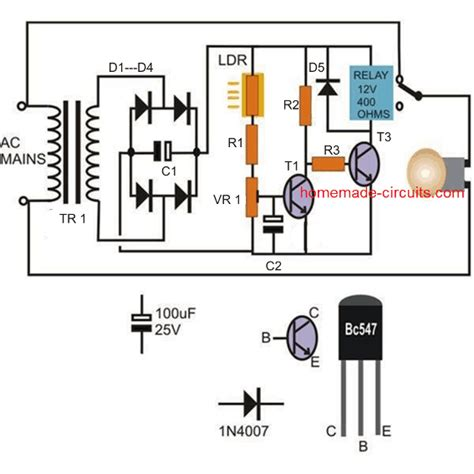 Automatic Day Night Switch Circuits Explained Homemade