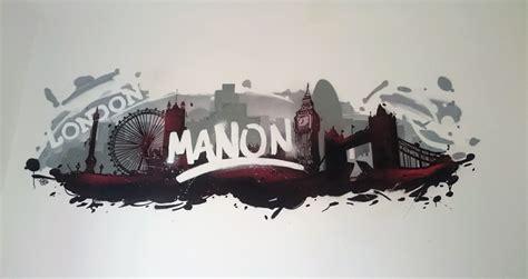 graff chambre décoration graffiti de la chambre de manon