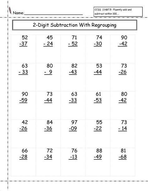 digit math worksheets activity shelter