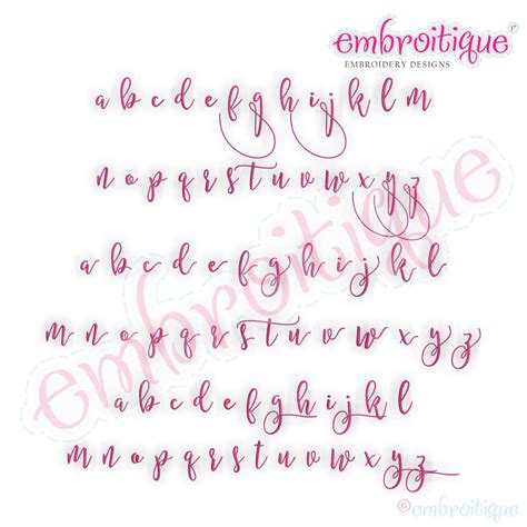 alphabets embroidery fonts bx format  embrilliance melissa monogram super set hand
