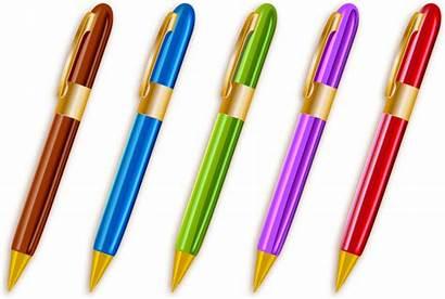 Pens Ballpoint Colorful Vector Pen Clipart Clip