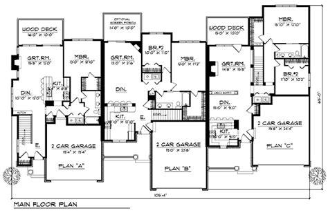 family floor plans multi family plan 73483 at familyhomeplans com